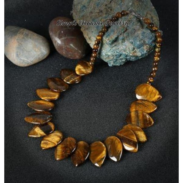 Tiger Eye Natural Stone Onxy Necklace (2 Styles of Options Bracelets) - Necklace - Natural Stone Necklaces