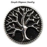 Tree of Life Metal Snap 20mm for Snap Charm Jewelry - Black - Snap Jewelry