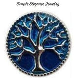 Tree of Life Metal Snap 20mm for Snap Charm Jewelry - Blue - Snap Jewelry