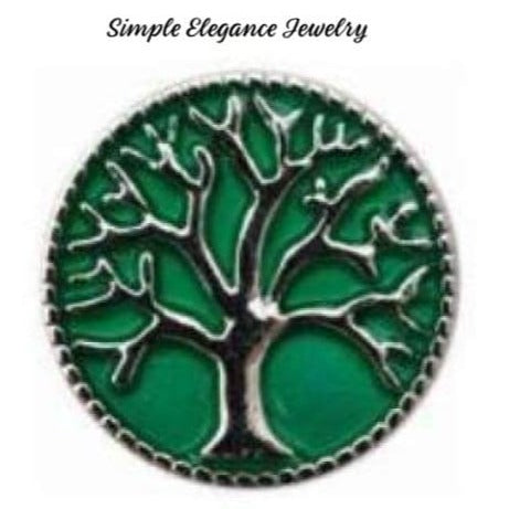 Tree of Life Metal Snap 20mm for Snap Charm Jewelry - Green - Snap Jewelry