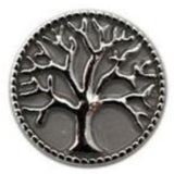 Tree of Life Metal Snap 20mm for Snap Charm Jewelry - Silver - Snap Jewelry