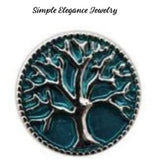 Tree of Life Metal Snap 20mm for Snap Charm Jewelry - Turquoise - Snap Jewelry