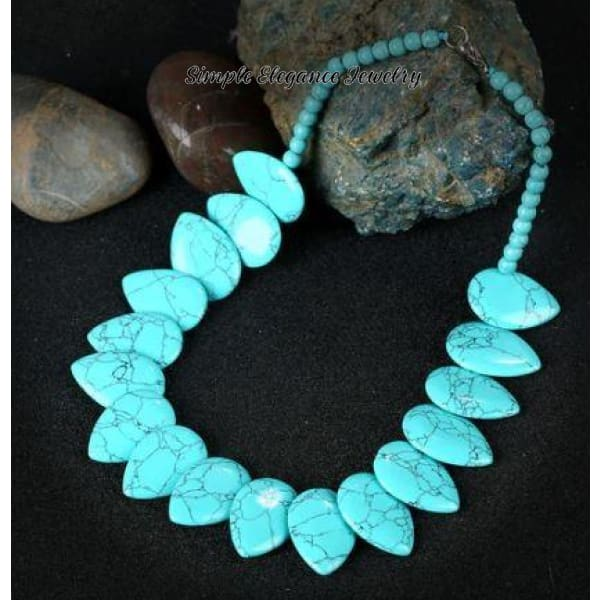 Turquoise Stone Onyx Necklace - Natural Stone Necklaces