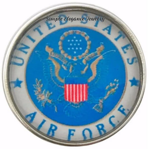 United States Air Force Snap Charm 20mm - Snap Jewelry