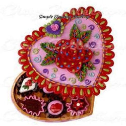 Valentine Candy Box Snap Charm 20mm - Snap Jewelry