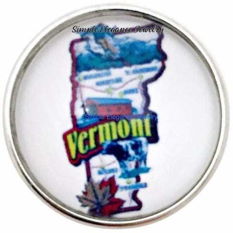 Vermont State Snap 20mm for Snap Jewelry - Snap Jewelry