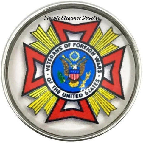 Veterans of Foreign Wars Snap Charm 20mm for Snap Jewerly - Snap Jewelry