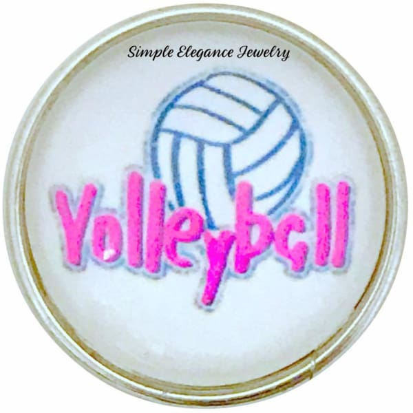 Volleyball Snap Charm 20mm for Snap Jewelry - Snap Jewelry