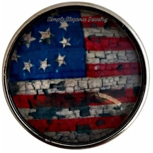 Weathered Flag Snap 20mm for Snap Jewelry - Snap Jewelry