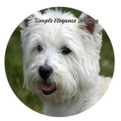Westie Dog Snap Charm 20mm or 12mm MINI for Snap Charm Jewelry - 20mm - Snap Jewelry