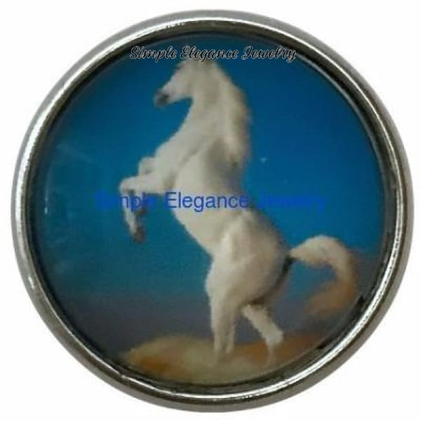 White Horse Snap Charm 20mm for Snap Jewelry - Snap Jewelry