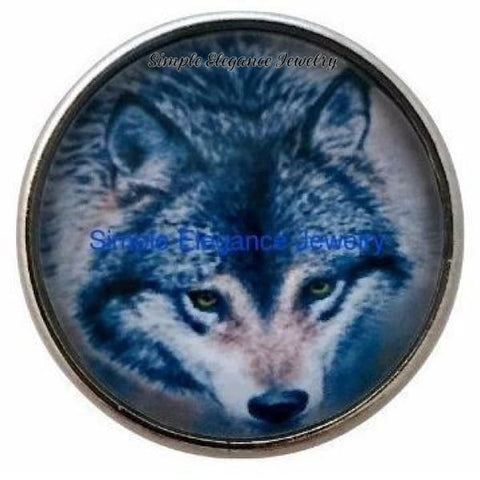 Wolf Animal Snap 20mm - Snap Jewelry