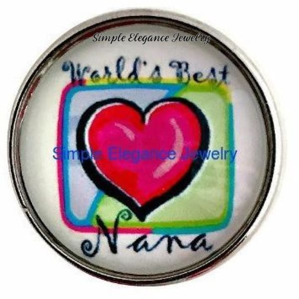 Worlds Best Nana Snap 20mm - Snap Jewelry