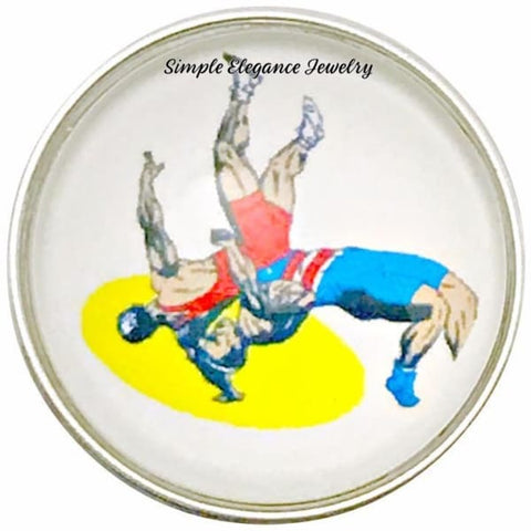 Wresting Sport Snap Charm 20mm for Snap Jewelry - Snap Jewelry