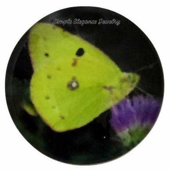 Yellow Butterfly 18mm for Snap Charm Jewelry - Snap Jewelry