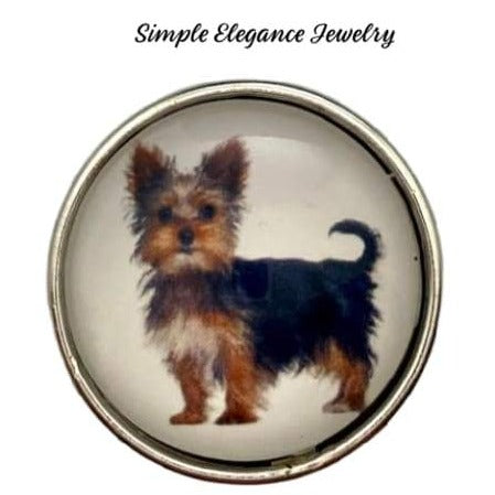 Yorkie Dog Snap Charm 20mm - Snap Jewelry