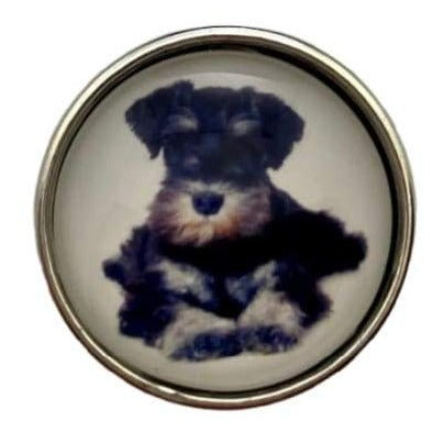 Yorkie Snap Charm 20mm - Snap Jewelry
