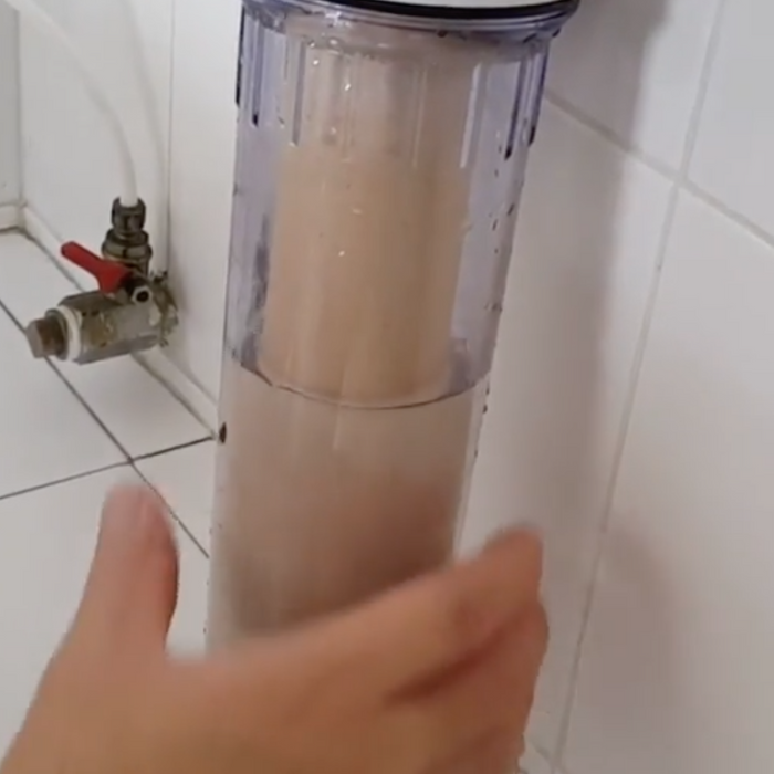 # How to fix water coverage issue for ceramic filter housing?