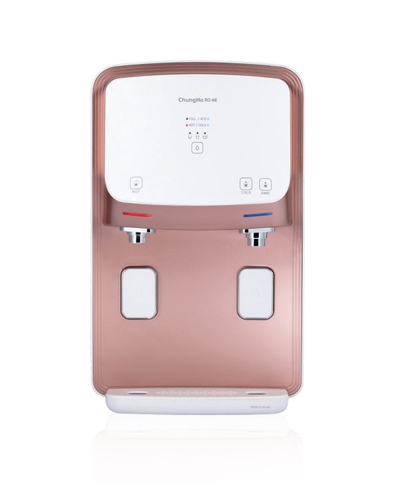 ChungHo Water Purifier, 3 IN 1 PREMIUM MINERAL ROSE GOLD EDGE Hot Cold Ambient + Minerals Water Dispenser - SHOP N' SAVE effortless Shopping!