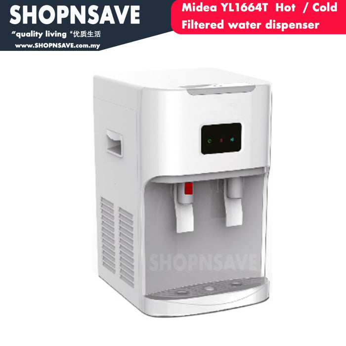 Midea YL1664T Hot Cold Filtered Water Dispenser with 4 Korea Water Purifier, Counter-Top - SHOP N' SAVE effortless Shopping!