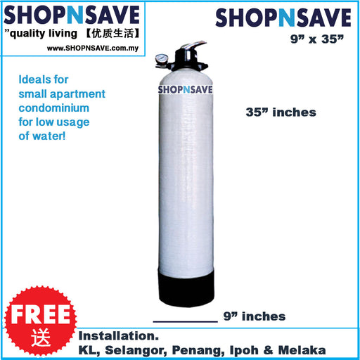 SHOPNSAVE 935 FRP (9' X 35'), Outdoor Master Filter [Free Installation] - SHOP N' SAVE effortless Shopping!