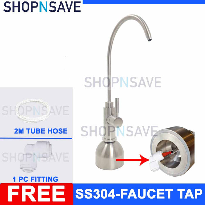 SHOPNSAVE SS304 Luxury Faucet Tap, Portable Faucet, Portable Water Filter Tap Water Filter Tap, Water Filter Fuacet, Portable Tea Faucet for water filter system, water dispenser system