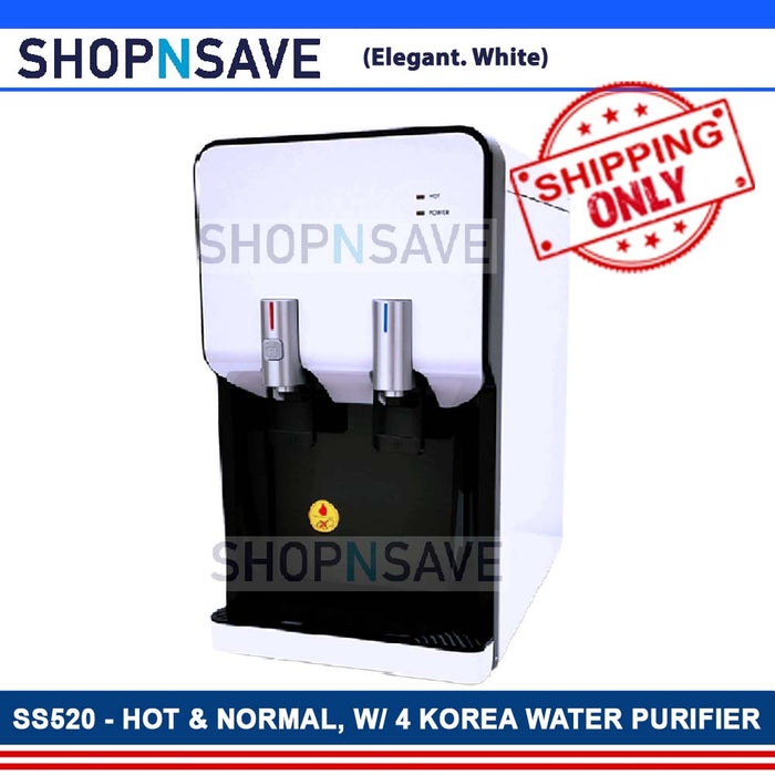 SHOPNSAVE SST520 Hot Room Temperature Filtered Water Dispenser 4 Korea Water Filters Water Purifier System