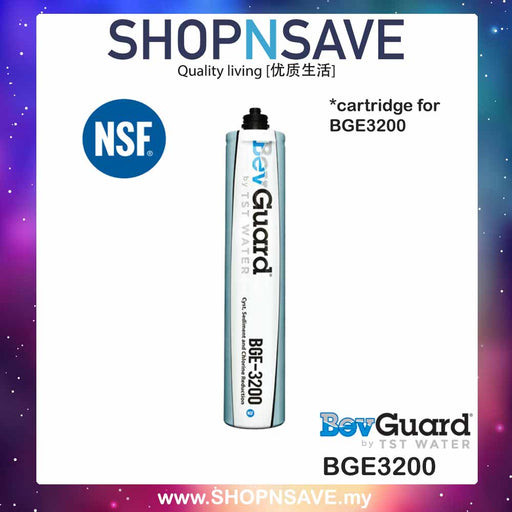 2 PCS Replacement Cartridge for BevGuard BGE3200 Water Filter - SHOP N' SAVE effortless Shopping!
