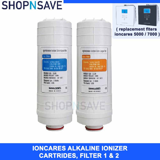 FILTERS 1 & 2 FOR LUXURY IONCARES PREMIUM FOR ALKALINE WATER IONIZER - SHOP N' SAVE effortless Shopping!