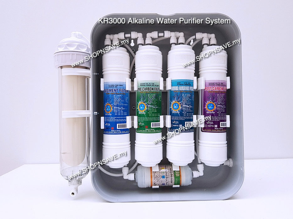 [Free 1 set Ceramic Knife] KR3000, Korea Alkaline Water Purifier, 6 Stage Filtration Water System - SHOP N' SAVE effortless Shopping!