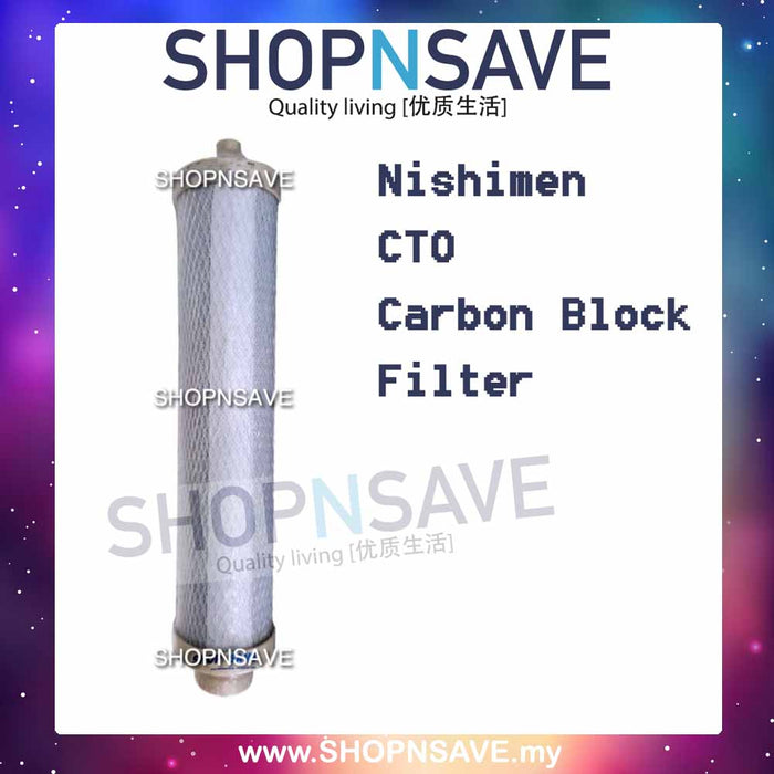 Carbon Bloack Replacement Cartridge for Nishimen 2 stage Water Filter - SHOP N' SAVE effortless Shopping!