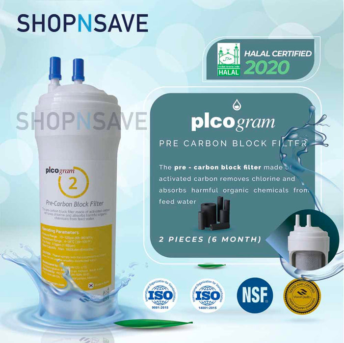 "Picogram Korea Filters Cartridge for cuckoo ICON, 4 PCS, 8"" Ultra-Fine Water Filtration System, Korea Halal Certified High-Quality"