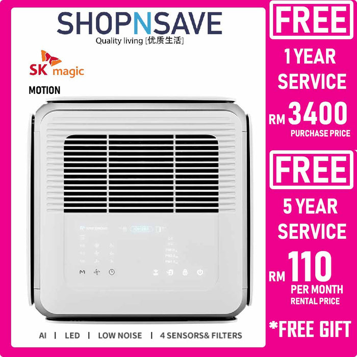 CL140M MOTION Sk Magic Air Purifier Low Noise built-in Ai LED 4 Sensors & Filters Korea Air Purifier - SHOP N' SAVE effortless Shopping!