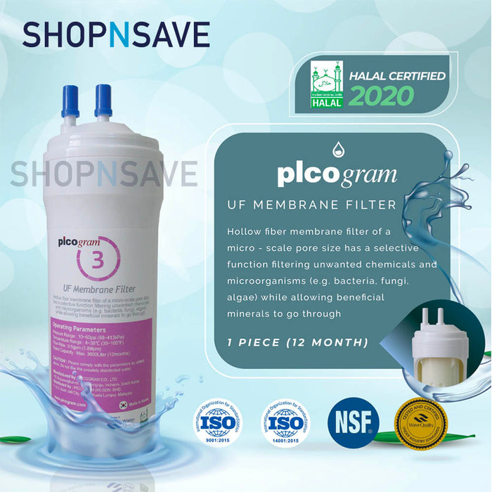 "Picogram Korea Filters Cartridge for cuckoo QUEEN STAND, 4 PCS, 8"" Ultra-Fine Water Filtration System, Korea Halal Certified High-Quality Korea Picogram Replacement Cartridges"