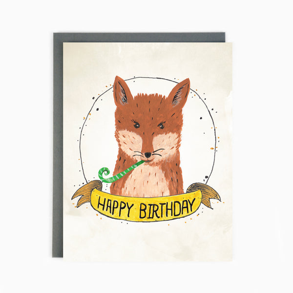 Birthday Fox Card