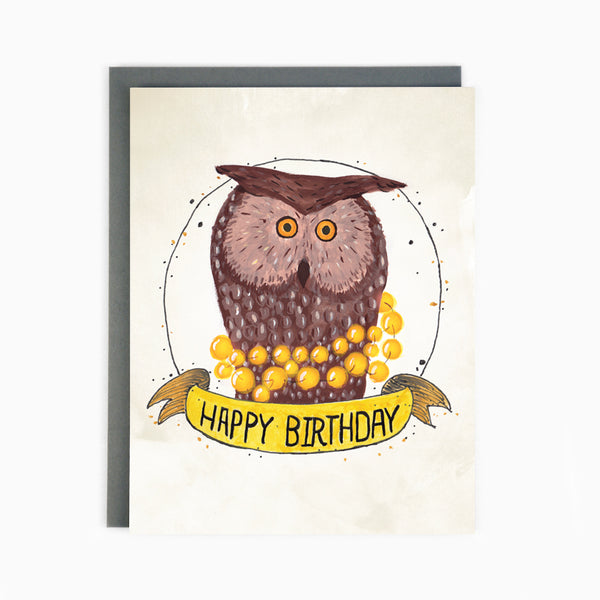 Birthday Owl Card