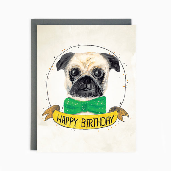 Birthday Pug Card