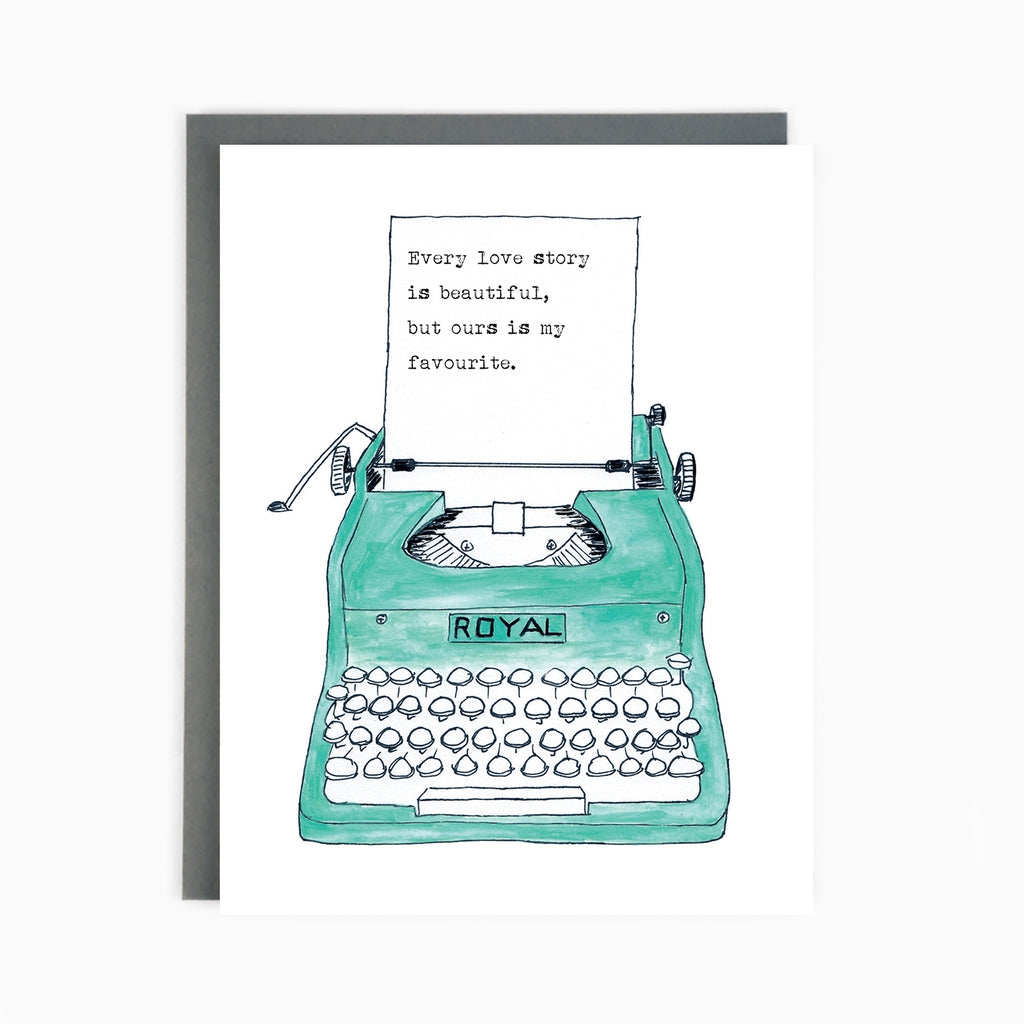 Love Typewriter Card