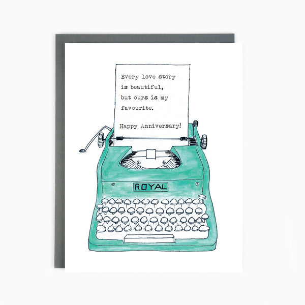 Anniversary Typewriter Card
