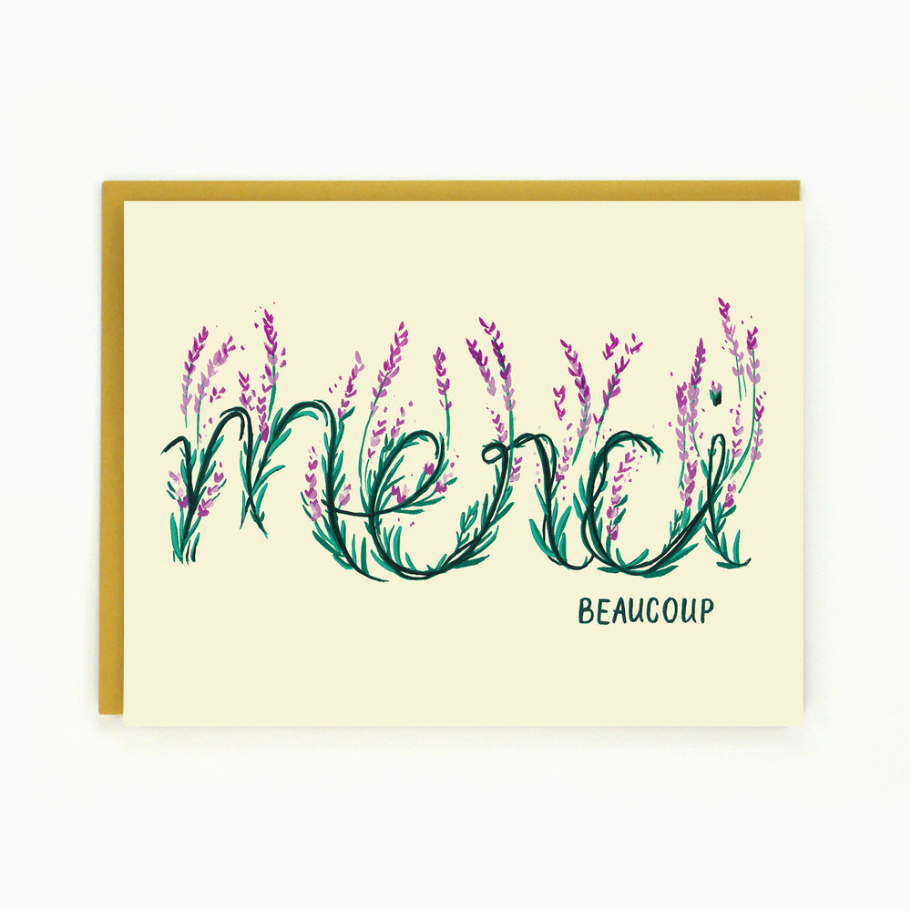 Merci Beaucoup Floral Card