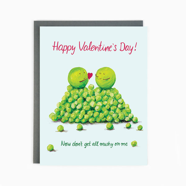 Valentines Mushy Peas Card