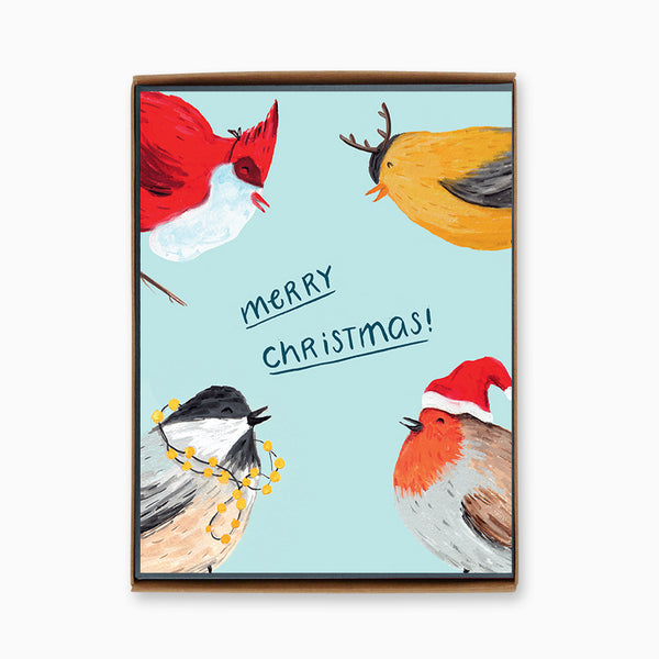 Box of 8 Christmas Birds Cards
