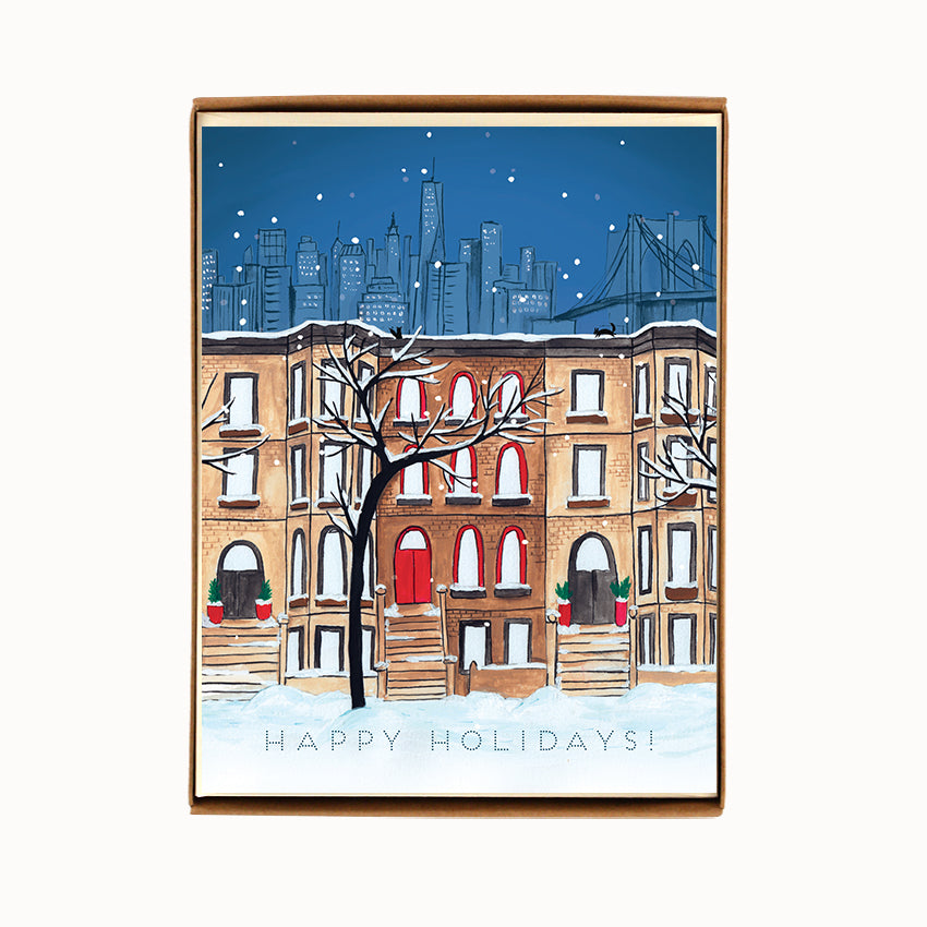 Box of 8 Brooklyn Holiday Cards