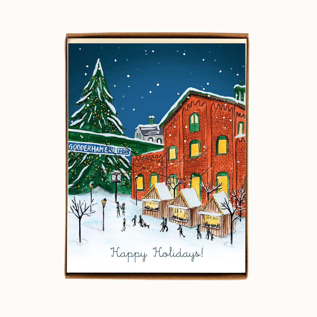 Box of 8 Toronto Distillery District Holiday Cards