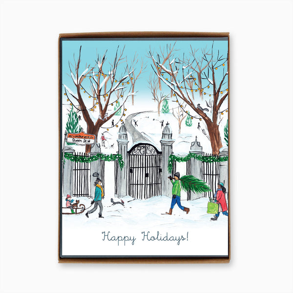 Box of 8 Toronto Trinity Bellwoods Park Holiday Cards