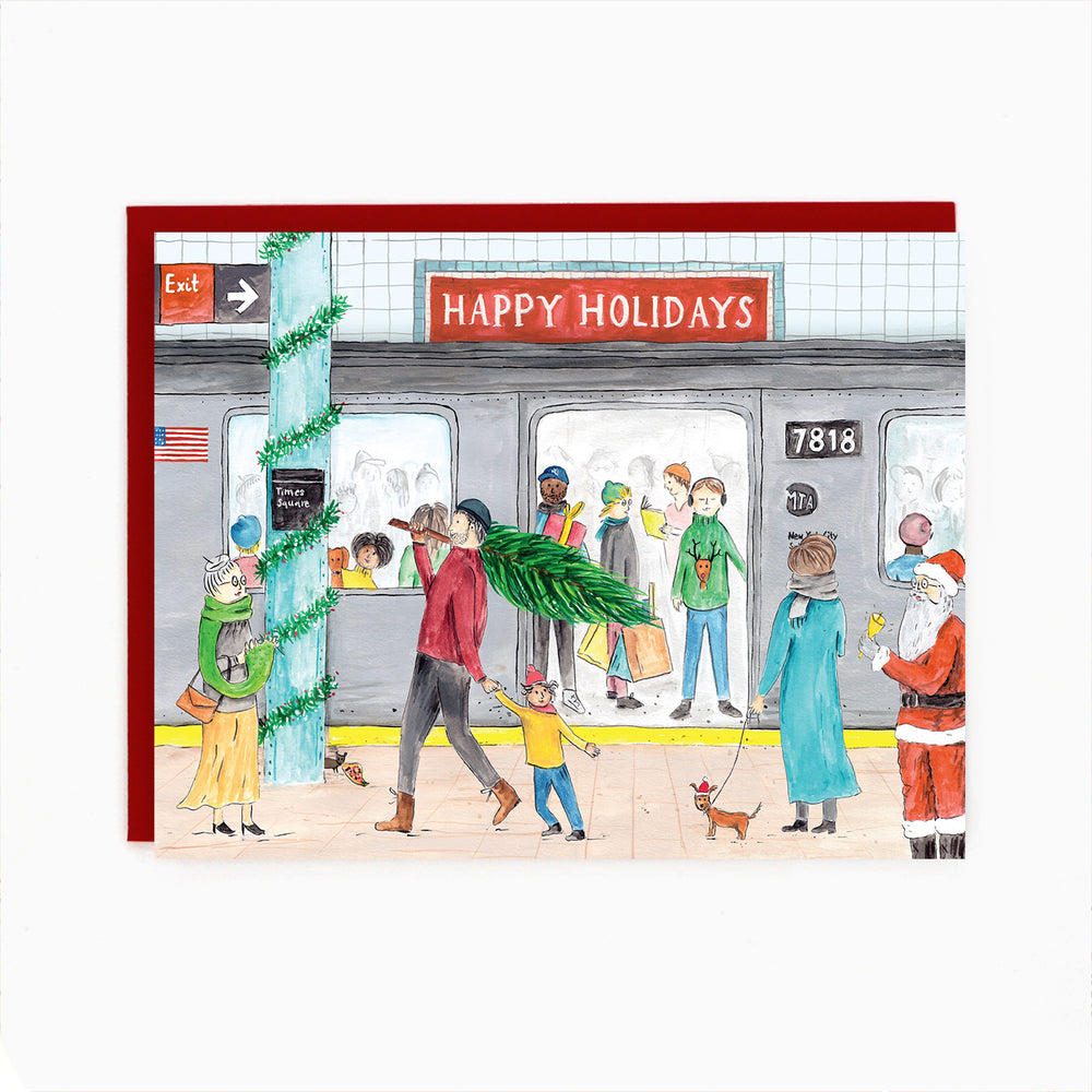 NYC Subway Holiday Card