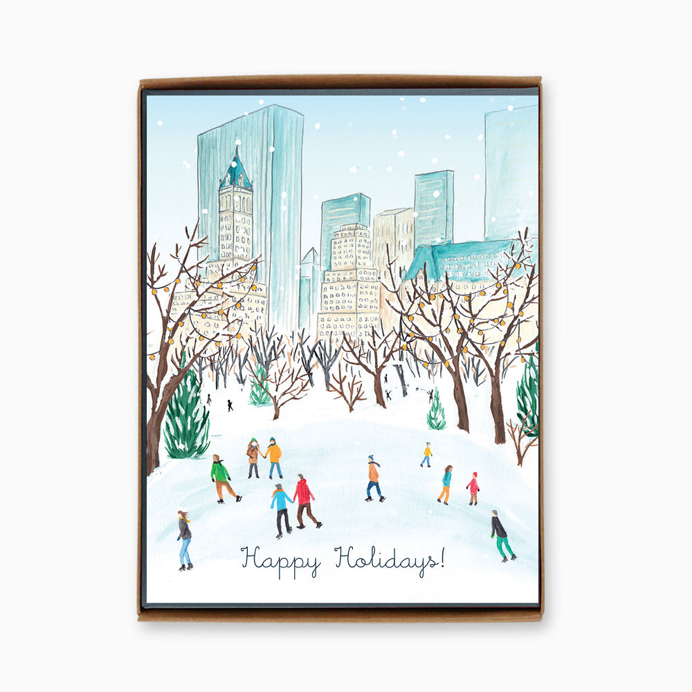 Box of 8 NYC Central Park Winter Cards