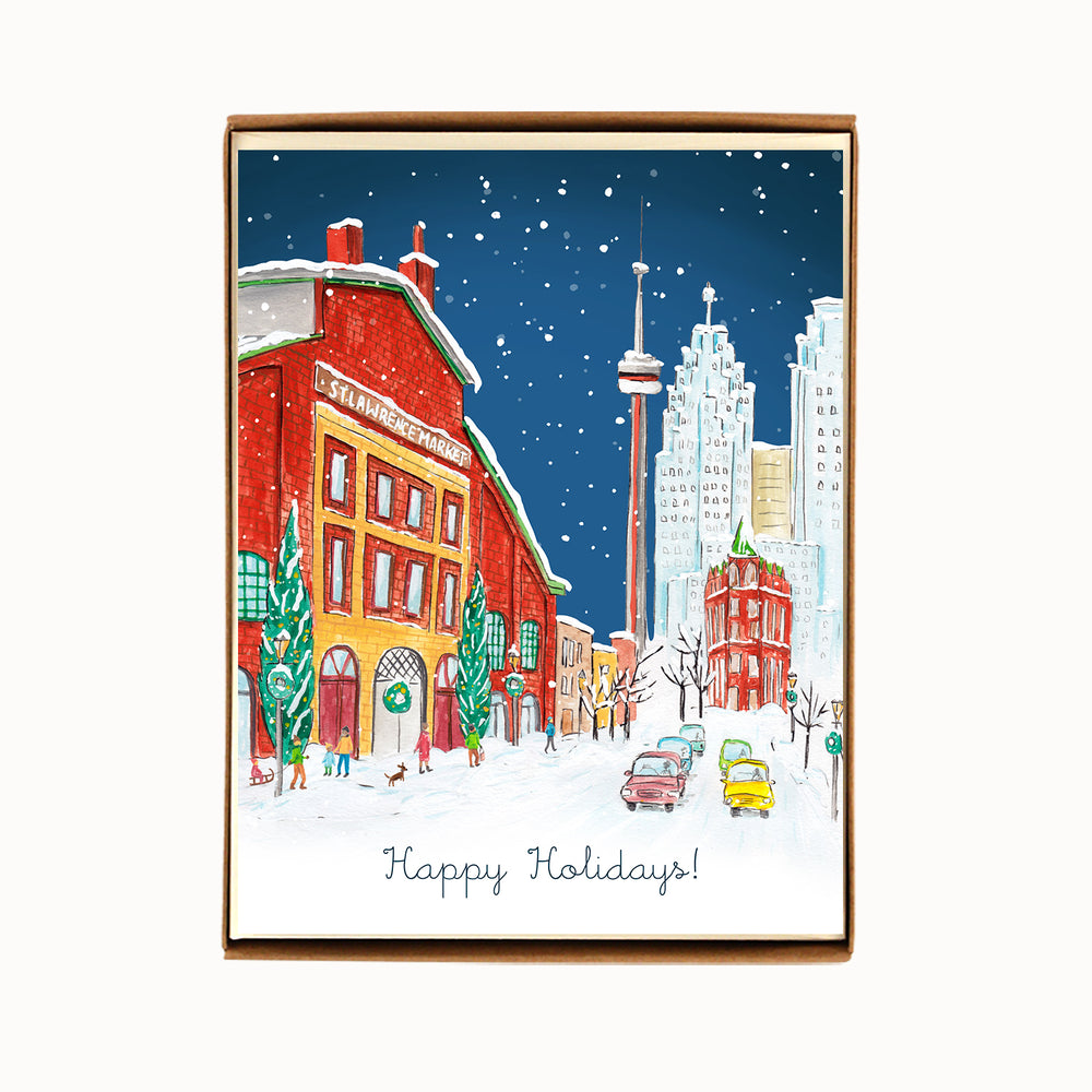 Box of 8 Toronto St Lawrence Market Holiday Cards