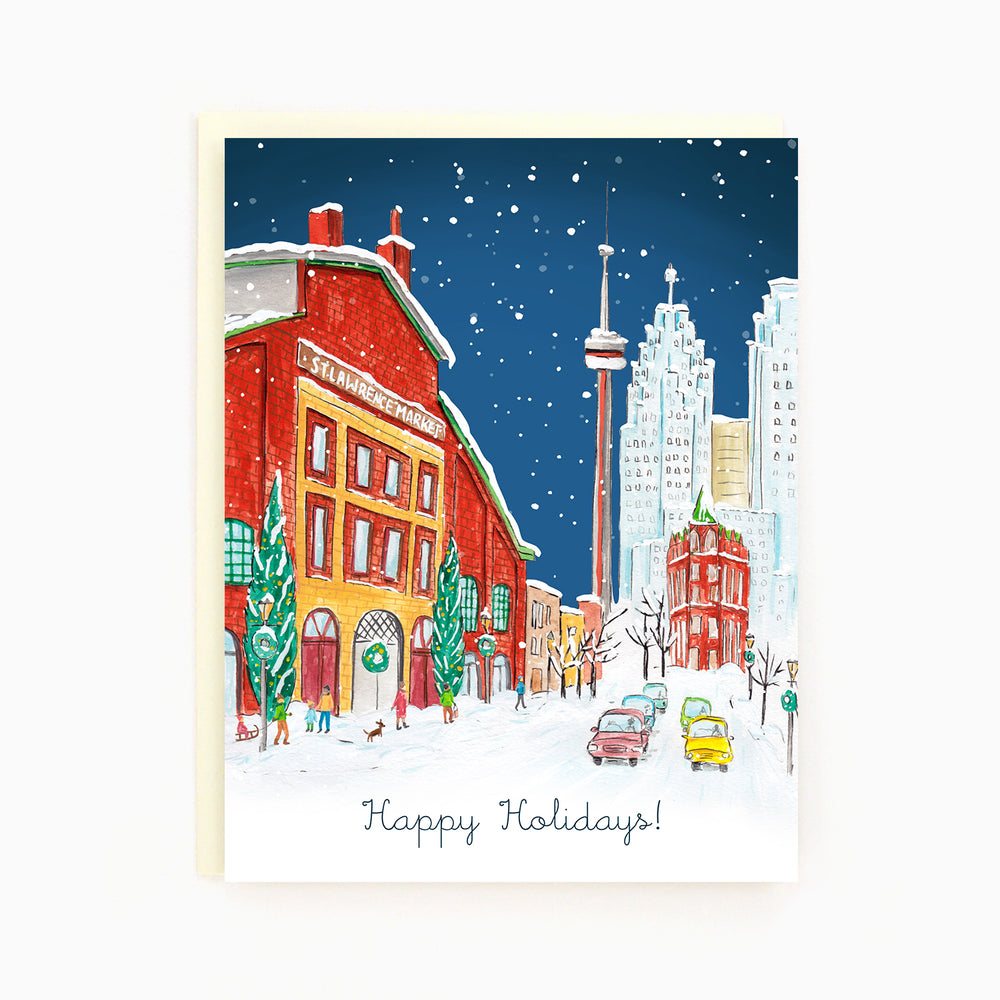 Toronto St Lawrence Market Holiday Greeting Card