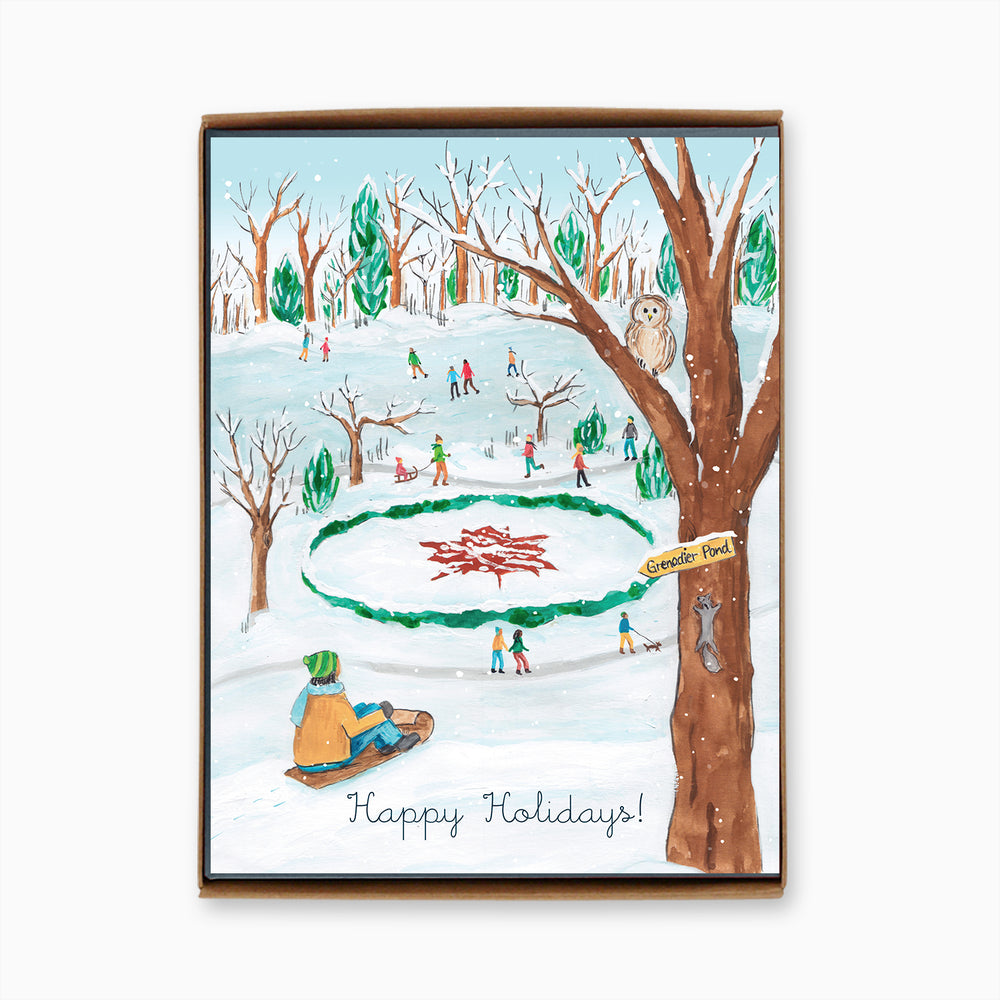 Box of 8 Toronto High Park Holiday Cards